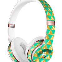 Summer Green and Gold v1 Full-Body Skin Kit for the Beats by Dre Solo 3 Wireless Headphones