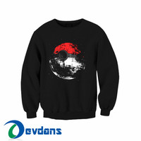 Death Star Pokeball pokemon Sweatshirt size S,M,L,XL,2XL,3XL