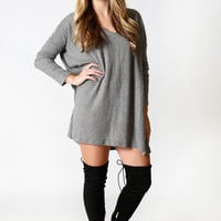 Piko - V neck sweater - Charcoal