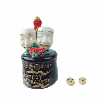 Tragedy and Comedy Mask Treasure Boxes