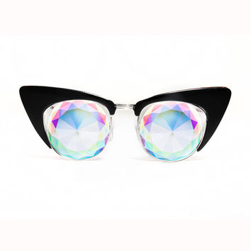 HOLES Cat Eye Kaleidoscope Glasses