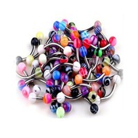 BodyJ4You Eyebrow Ring Lot of 20 Assorted Curved Barbell with Ball 16G Piercing Jewelry
