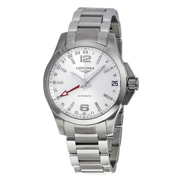 Longines Conquest Silver Dial Stainless Steel Bracelet Mens Watch L3.687.4.76.6
