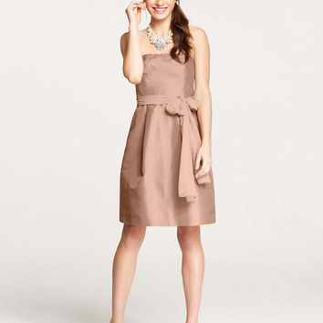 Silk Dupioni Strapless Dress (Ann Taylor)