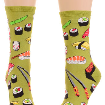 This Is How I Roll Sushi Socks in Wasabi Green