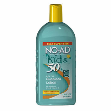 NO-AD SPF 50 Kids Sunscreen Lotion 16oz.