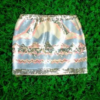 Aztec Sequin Skirt - $78