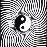 Yin-Yang Black Light Poster