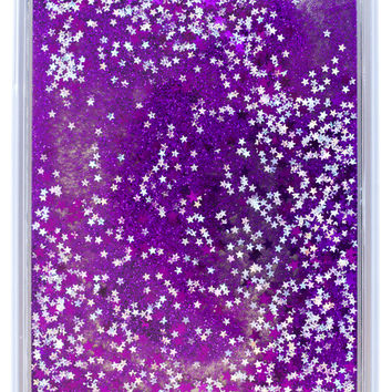 iPad Mini Purple Liquid Glitter Case (Moving Glitter!!)