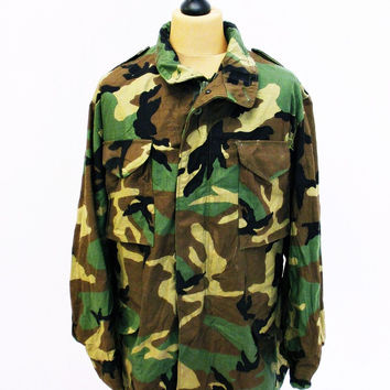 Vintage US ARMY Camo M65 jacket Large Tall