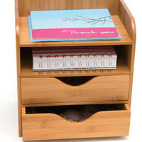 Bamboo Four-Tier Desk Organizer