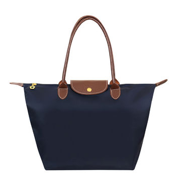 Fashion Women Bags Folding Shoulder Waterproof Oxford Handbags Dumplings Female Travel Tote Folding Bag Tote Paris Bag