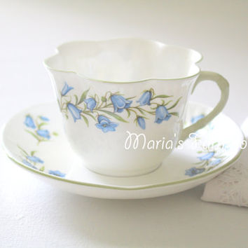 Vintage, English Fine Bone China by Crown Staffordshire, Tea Cup and Saucer Duo, Gifts for Her, Tea Party