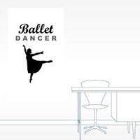 Ballet Dancer Silhouette 20x12 Wall Decal