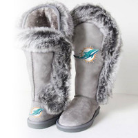 "Miami Dolphins Women's Cuce Official NFL ""Winner"" Boots"