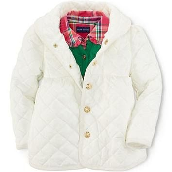 Ralph Lauren Childrenswear Girls 2-6x Quilted Shawl Collar Jacket