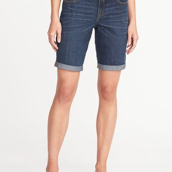 "Slim Denim Bermudas for Women (9"")