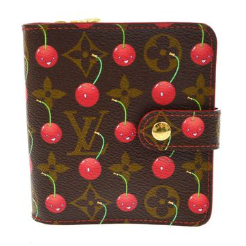 AUTHENTIC LOUIS VUITTON MONOGRAM CHERRY COMPACT ZIP WALLET M95005 A36867