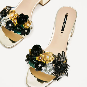 BEADED VAMP AND HEEL SANDALS - NEW IN-WOMAN | ZARA United States