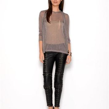 Pierre Balmain Genuine Leather Laced Pants - Made in Italy - Pierre Balmain from $85: Just Arrived from Italy - Modnique.com