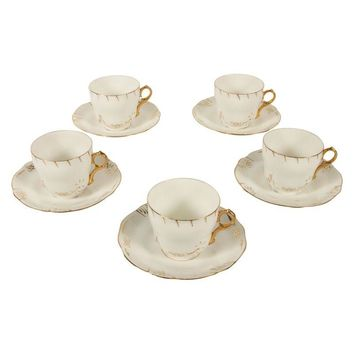 Pre-owned Rorstrand Sweden Tea Cup & Saucer - Set of 5