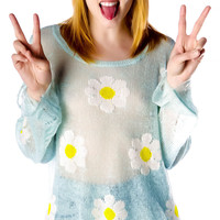 Wildfox Couture Daisy Fest Lennon Sweater Mall Fountain