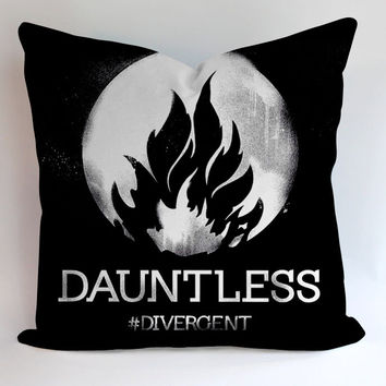 Dauntles Divergent Faction Pillow, Pillow Case, Pillow Cover, 16 x 16 Inch One Side, 16 x 16 Inch Two Side, 18 x 18 Inch One Side, 18 x 18 Inch Two Side, 20 x 20 Inch One Side, 20 x 20 Inch Two Side