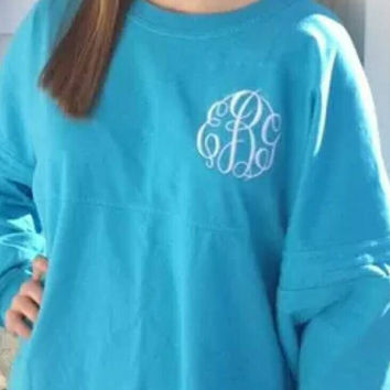 Youth/Girls Monogrammed Spirit Jersey. Several colors to choose from. These make a great gift