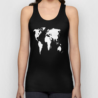 World Outline  Unisex Tank Top by Elyse Notarianni