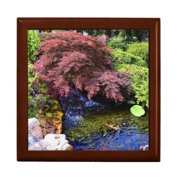 Japanese Garden waterfall Jewelry Box