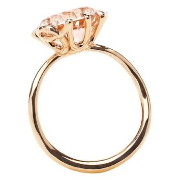 OUI RING Ring in 18K pink gold and morganite