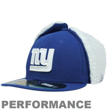 New Era New York Giants Youth On-Field Dog Ear 59FIFTY Fitted Performance Hat - Royal Blue - http://www.shareasale.com/m-pr.cfm?merchantID=29078&userID=1042934&productID=524926677