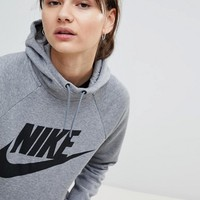 Nike Rally Logo Hoodie In Grey at asos.com