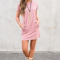 Zane T-Shirt Dress (Pink)