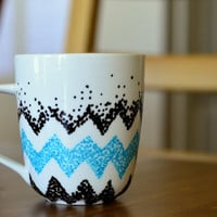 Unique Coffee Mug -Chevron design