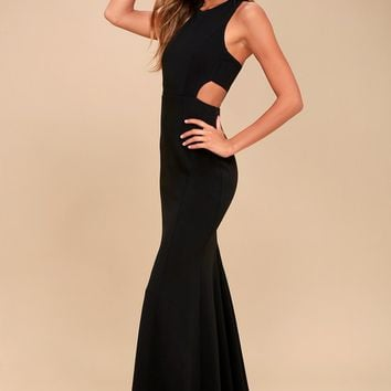 Loving Embrace Black Cutout Maxi Dress