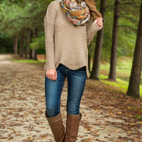 All In The Details Sweater, Tan