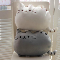 Kawaii Brinquedos New Cat Pusheen Pillow Soft With Zipper Doll