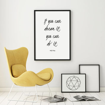 Large Print Quote Typography Motivation Inspiration Poster Art Digital  Home Decor Giclee Screenprint Letterpress Gallery Wall PRINTABLE Art