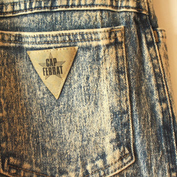 80s HighWaisted Acid Wash Jeans Womens Size 7 / 8
