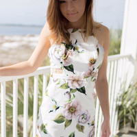 Flower Power White Dress