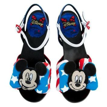 LMFI7E Irregular Choice Mickey Mouse & Friends Collection Women's Oh Toodles Sandals