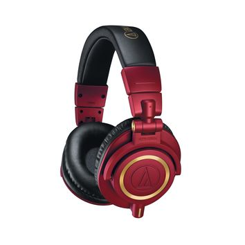 Limited Edition Red & Gold Audio-Technica M50x Headphones