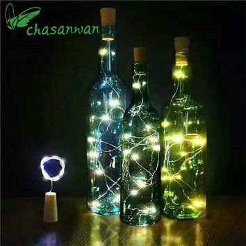 2 M 20-LED Decoration Mariage Bottle Corks Light String Glass Crafts Decorate At Night Lights Lamp Party Wedding Decorations,Q