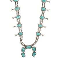 Women's JWest and Co. Silver and Turquoise Stone Necklace
