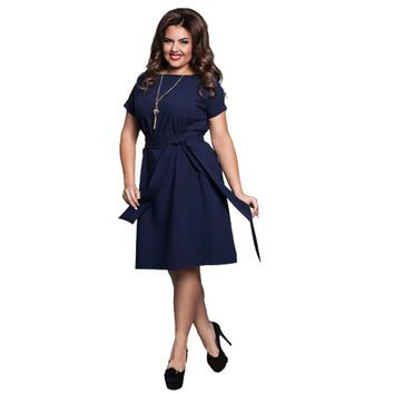 2017 Plus Size Women Clothing Summer Dress Casual Short Sleeve Loose Big Size 6XL Women Dress 5XL Party Dress Flare Vestidos