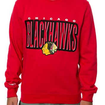 Chicago Blackhawks Fleece Crew Neck Fleece Sweatshirt