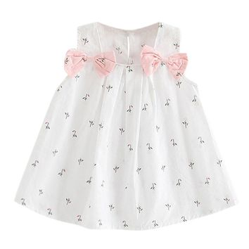 Flowers and Bows Baby Girl Dress