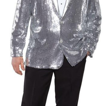 Sequin Jacket Silver Ad One Sz