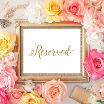 Wedding Reserved Sign - 8x10